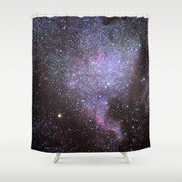 North American Nebulae. The Milky way. North America Nebula Shower Curtain by Guido Montañés
