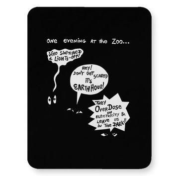 Zoo Animal Conversation During Earth Hour Mouse Pad