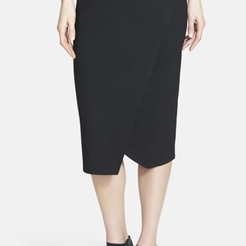 Women's Eileen Fisher Faux Wrap Jersey Skirt,