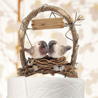 A Love Nest Wedding Cake Topper