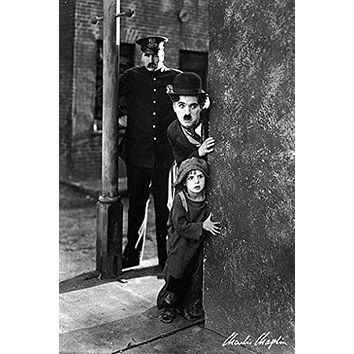 CHARLIE CHAPLIN POSTER The Kid RARE HOT NEW 24x36 Style 2