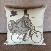 RIDE AND FALL pillow slate gray