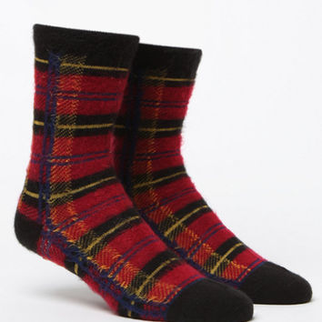 LA Hearts Plaid Boot Socks at PacSun.com