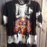 Motörhead  // band shirt // cut // bleached//concert t shirt// heavy metal//rocker // t shirt