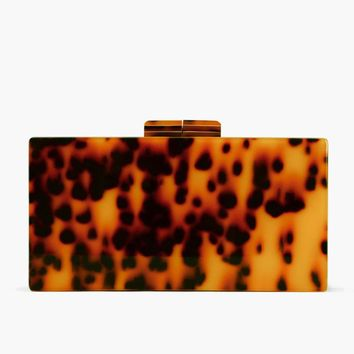 Fashion Leopard Design Women's Clutches Chain Flap Box Shoulder Bags Small Luxury Messenger Acrylic Party Pouch Purse BA260