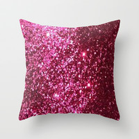 Pink Sparkle Throw Pillow by PinkBerryPatterns