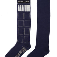 Doctor Who TARDIS Knee-High Socks | Hot Topic