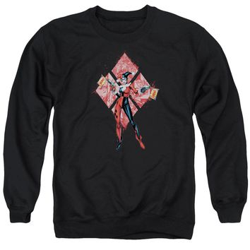 Batman - Harley Quinn (Diamonds) Adult Crewneck Sweatshirt