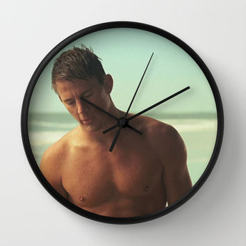 Channing tatum beach Wall Clock by Max Jones | Society6
