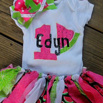 first birthday outfit girl, 1st birthday outfit, pink watermelon outfit, watermelon birthday outfit, baby party dress, cake smash outfit