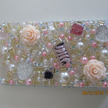 Pink Bedazzled iPhone 4/4s custom case