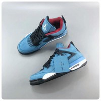 "Travis Scott x Air Jordan 4 ""Houston Oilers"" AJ4 Retro Sneakers - Best Deal Online"