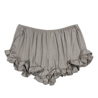 Dainty Ruffle Shorts- Grey