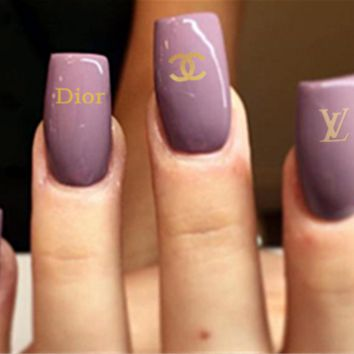 Chanel, LV, Dior Fashion nail jewelry stickers Three combinations of styles