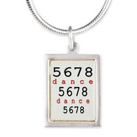 5678 dance Silver Portrait Necklace