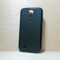 Soft TPU translucent Color Case Protective Silicone Back Case Cover for Samsung Galaxy S4 - Black