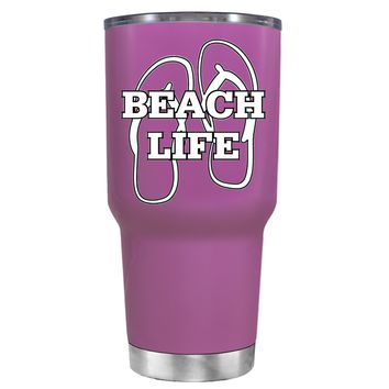 The Beach Life Sandals on Light Violet 30 oz Tumbler Cup