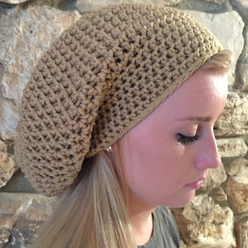 Crochet Slouchy Beanie Hat Winter Hat Teens Back to School Winter Beanie Fall Beanies, Tam