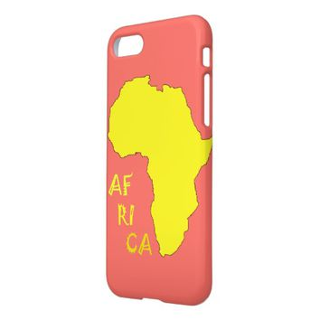 Funky Yellow Africa Map IPhone 8/7 Case Cover