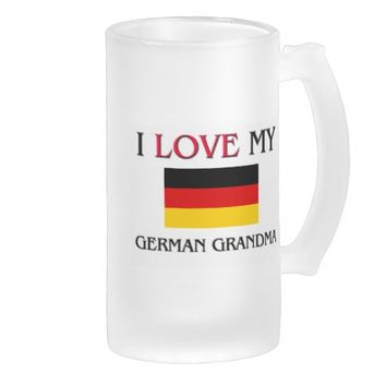 I Love My German Grandma Frosted Glass Beer Mug