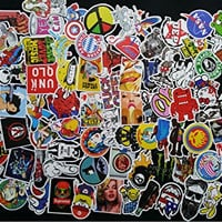 Car Stickers Decals Pack 100 Pieces Bumper Stickers Random Patterns