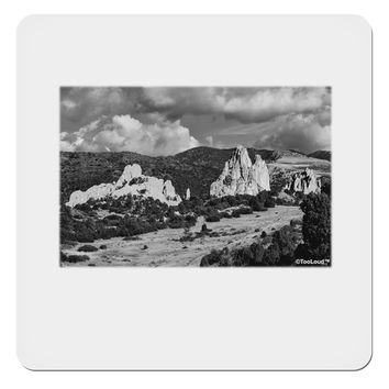 "CO Mountain Forest Scene 4x4"" Square Sticker by TooLoud"
