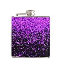 sparkly purple flask