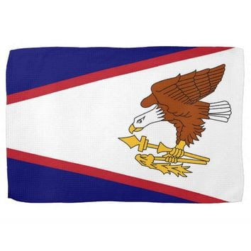 Kitchen towel with Flag of American Samoa, U.S.A.