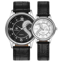 1 Pair Tiannbu Ultrathin Leather  His and Hers  Wrist Watches