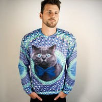 Psychedelic Cat Sweater at Firebox.com