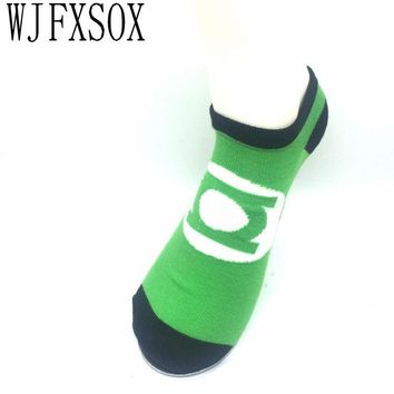WJFXSOX 5pair MARVEL Socks Hero Power Green Lantern Wonder Woman The Flash Family Man Batman Superman Dark Knight Justice League
