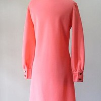 Vintage Lacoste Dress Pink Shift 1970s Casual Day Dress Izod Dress Izod Lacoste Chemis