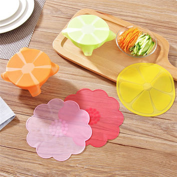 Fruite Shape Stretchy Bowl Cover Silicone Suction Lid-bowl Cooking Pot Stretch Silicone Lid Dishware Suction Covers & Bowl Lid