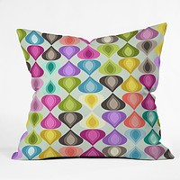 Sharon Turner Candy Gouttelette Throw Pillow
