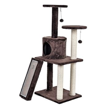 Luxury Cat Tree With Scratch Board Toy Balls and Sisal Scratch Posts