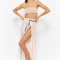 Striped Split Cover-Up Pants