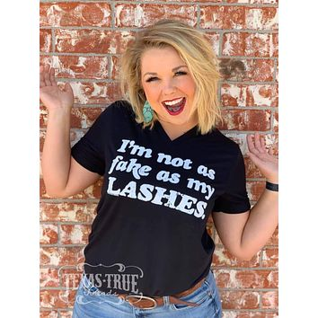 Fake As My Lashes Graphic Tee (S-2XL)