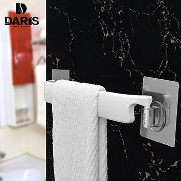 SDARISB Creative Seamless Stickers Plastic Wall Stickers Firm Bathroom Towel Racks Features Removable Bathroom Accessories