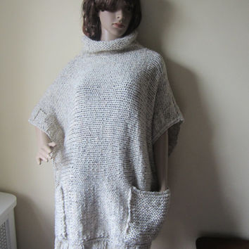 OVERSIZE PONCHO, SWEATER, womens sweater, womens poncho,  cowl neck poncho, plus size womens clothing,  winter clothing, poncho, sweater