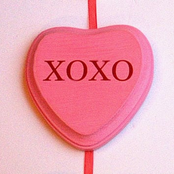 Wood Sign Conversation Hearts Sweetheart Candy Hearts Wallhanging Wooden Words Wall Art