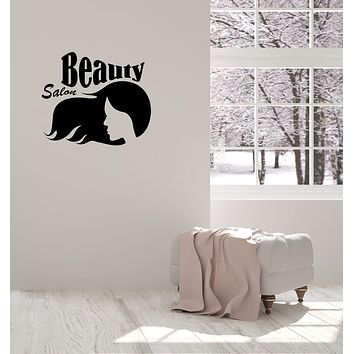 Vinyl Decal Wall Sticker Hairstyle Hair Stylist Hair Salon Beauty Decor Unique Gift (g096)