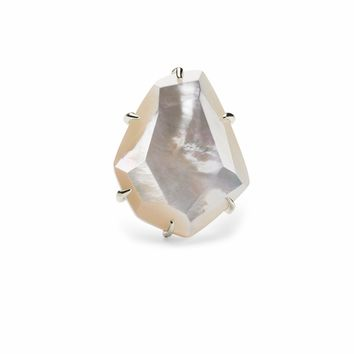 Kendra Scott: Megan Cocktail Ring Ivory Mother of Pearl