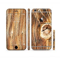 The Knobby Raw Wood Sectioned Skin Series for the Apple iPhone 6s Plus