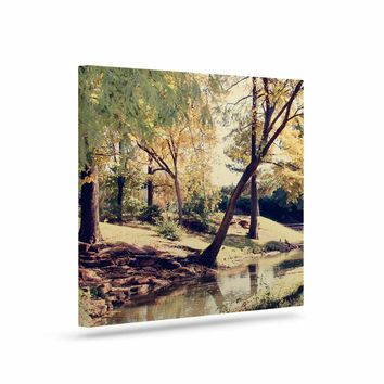 """Sylvia Coomes """"Walk In The Park """" Green Photography Canvas Art"""