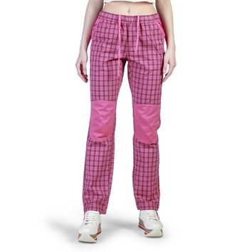 Think Pink Elastic Striped Trouser