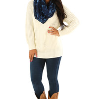 Campfire Cutie Sweater: White