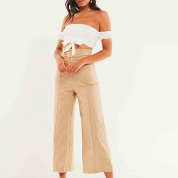 Olean Pants - Beige Stripe