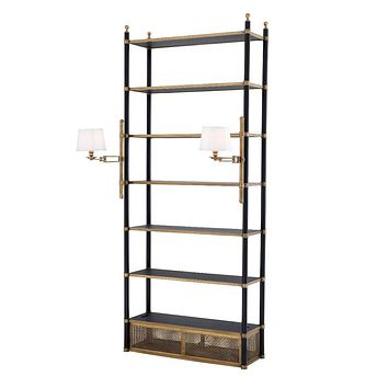 Brass Display Cabinet With Lights | Eichholtz Sterling