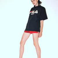vintage FILA Tshirt / thick cotton 90s ATHLETIC unisex soccer shirt