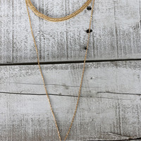 METALLICS LAYERING NECKLACE IN GOLD
